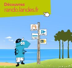 Découvrez le site rando.landes.fr