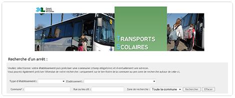 Transports scolaires : module de recherche horaire/arrêt