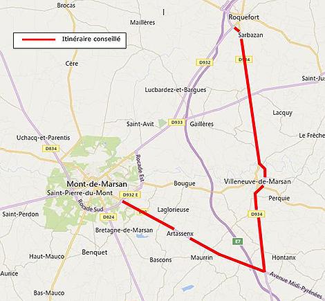 Aménagement carrefour à sens giratoire entre RD932 & et voie communale n°3 à Saint-Avit