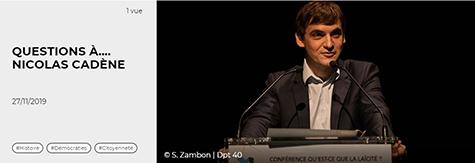 Article Xlandes-info.fr Questions à... Nicolas Cadène