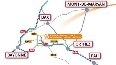 A641 Projet échangeur d&aposOrthevielle