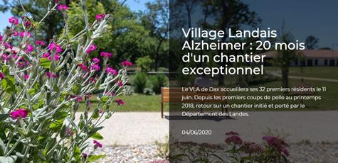 xlandes-info.fr : Grands formats - Village Landais Alzheimer : 20 mois d&aposun chantier exceptionnel