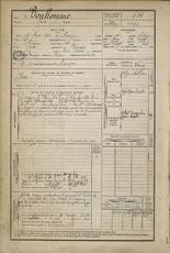 Fiche de recrutement militaire - Archives dép. des Landes