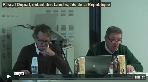 Conférence Pascal Duprat - 1er mars