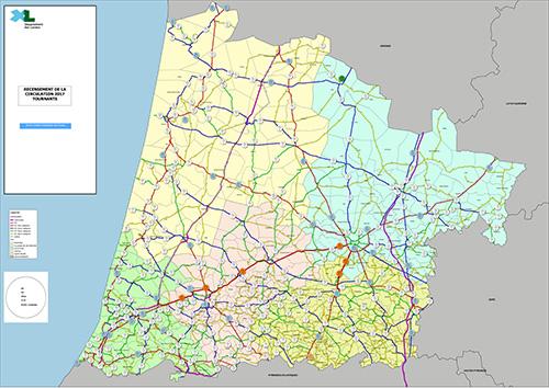 Recensement de la circulation 2017 - Comptage routier