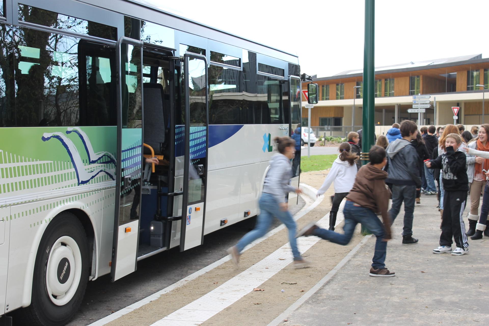 Descente de bus
