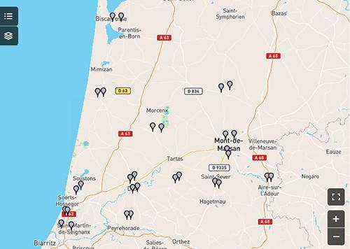 Cartographie de l&aposAssemblée départementale des Landes