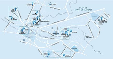 Plan Handilandes à Mont-de-Marsan