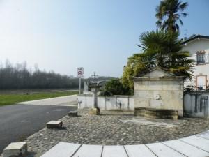 Fontaine du Qaui de l'Adour à Saubusse