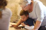 Atelier en familles à l Abbaye d Arthous © S.Zambon | Dpt40
