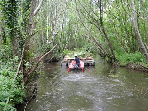 Transport aquatique bois