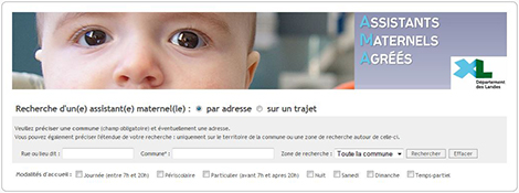 Recherche d'un assistant maternel - Landes